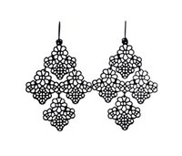 Wholesale Bohemia Chantilly Lace Chandelier Earrings Gold Filigree Floret Earring Gold Plated Hot Popular for Lady
