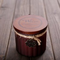 soy wax - Soy Wax Scented Candle with woodend lid