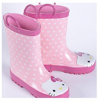 Wholesale 2014 New Arrival Cartoon Dot Boot Girl Cute Rubber Rain Boots Children s Shoes Girl Boots Non slip Water Shoes G18FB2