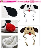 baby big nose - styles Fashion Girls Boys baby crochet hat mixed and retail Big nose dog beanie Children s Hats