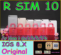 Wholesale R SIM Rsim R SIM Thin Film Sim Card Unlock for iphone plus iOS6 X X Support Sprint AT T T mobile