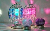 Wholesale Creative touch sensing Flower date table lighting Fragrance lamp electic Plug Nightlight home decoration Crystal pendant lamp