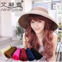 beach hat manufacturers - Manufacturers han edition ms sun hat Empty folding hat The summer beach hat sunscreen cap