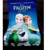 children fashion garment - 70 cm fashion Elsa Anna bath towels frozen bath towels Cartoon children bath towels cartoon bath towels Frozen fever towels DDA2709