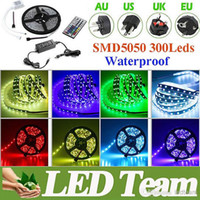 Wholesale Factory Seller Led Strips Waterproof RGB Warm Cool M Set SMD Leds LED Strip Lights Key IR Controller Power Supply US EU AU UK