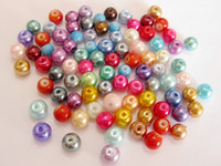 Wholesale Mixed Colour Smooth Round Glass Pearl Beads mm Spacers