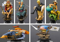 Wholesale 2015 New Japanese Anime One Piece CHESS PIECE COLLECTION PVC Figure Set Icludes