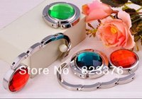 Wholesale Fashion Hang bag hook Acrylic with key ring Purse Bag hook Fold bag hanger colors