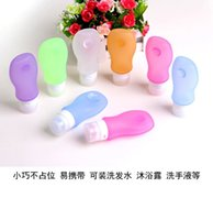 Wholesale amazon best selling New Silicone Cosmetic Points Bottling Travel Packing Bottle Lotion Shampoo Bath Shower Gel Tube Container
