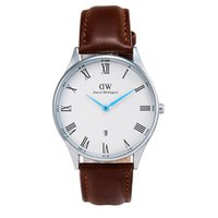 sheffield - DZ watches Men s Watches Daniel Wellington Classic Sheffield Leather Strap Watch mm Black Silver Men Casual Watches