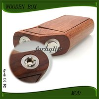 wooden horse - Wood Mod Mechanical Mods E Cig Wooden Mod Box Mod Thread For Dark Horse RDA Plume Veil COLT Atomizer RDA WOOD Tube VV Mod E Cigarettes
