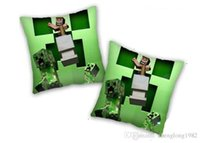 Wholesale 2015 New Minecraft Creeper Pillow CM CM Inch X Inches Square Cushion Pillow Childrens kids Christmas gifts toys designs