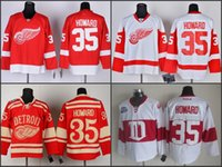 anti red cross - Detroit Red Wings Jimmy Howard Jersey Winter Classic Charcoal Cross Check Jimmy Howard Ice Hockey Jerseys Team Red White