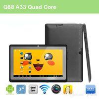 Wholesale 7 inch Allwinner A33 Tablet Quad core MB GB mini Cheap Android Tablet PC Q88 PB7 A33