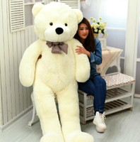 Wholesale 2015 New Giant CM inch TEDDY BEAR PLUSH HUGE SOFT TOY m Plush Toys Valentine s Day gift Birthday gifts New Year s gift white