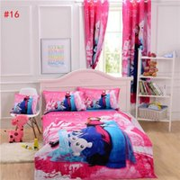 Wholesale 20pcs Frozen Bedding Curtain Duvet Cover Sheet Pillow Case Cushion Cover Bedlinen Mickey Mouse Bedding Sets Single Double Queen