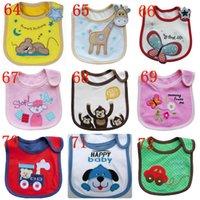 Wholesale 2016 new Infant saliva towels layer Baby Waterproof bibs Baby wear accessories kids cotton apron handkerchief children animal bib