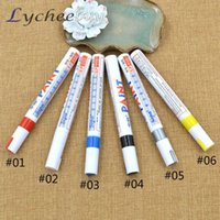 Wholesale 6 Colors Car Motorcycle Truck Tire Thread Touch Up Marker Paint Pens