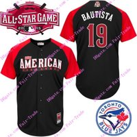 american league baseball - 2015 American League All Star BP Bautista Jersey black Authentic Stitched Baseball Jerseys Top quality Accept Mix Order