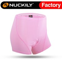 base layer material - Nuckily Mountain bike racing women padded cycling shorts base layer Ladies pink riding short with comfortable material NS360