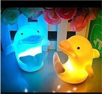 led night light - Dolphin Night Light LED Lighted Toys LED Night Light Colorful Light emitting Dolphins Creative Small Night Light Automatic Color Change LED