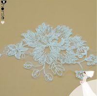 sequin applique patch - Beaded Bridal Appliques cm White Beaded Sequins Organza Lace Bridal Applique Patch For Veils By Piece DHLF1595