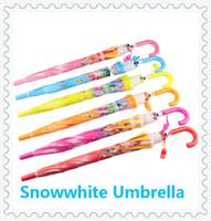 baby parasols - Snowwhite Princess Umbrella Baby Fashion Umbrella Kids Color Parasol Children Holiday Gift