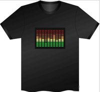 activate silvers - Luminous EL T shirt Sound Activated Flashing T shirt led Hippop Dancing Equaliser T shirt Various Pattern Polos Short Sleeves