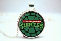 turtle pendant - 10PCS Teenage Mutant Ninja Turtles Pendant Necklace Glass Photo cabochon necklace