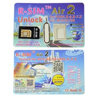 Wholesale R SIM Air RSIM air2 generation Unlock for iphone S C S G iOS6 X X Support US iOS7 Sprint AT T T mobile Crick