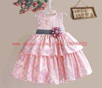 Cheap 2015 fashion girls dress ZOE flower children of the new sling cake skirt girls dress dot vest skirt dress cake flour kid clothing