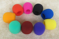 Wholesale YIYUAN Pack of Color Black Purple Hot Pink Brown Blue Orange Yellow Green Grey Red Handheld Stage Microphone Windscreen Foam Cover