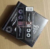 Cheap MAYBAO one box of Black slim OCB Cigarette Rolling Paper 108mm x 44mm OCB Cigarette Rolling Paper 50booklets lot
