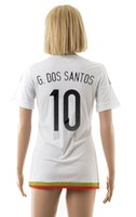 women athletic wear - 2015 Mexico away white jerseys G DOS SANTOS girl s athletic football wear thai quality soccer shirt women s designer sports jersey