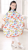 Wholesale Professional Children Hair Cutting Cape Colorful Barber Cloth Kid Lover Character Salon Waterproof Hairdressing Gown Capes for baby boy girl