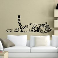 Wholesale ome Decor Wall Stickers Wall Stickers and retail Wall decor size mm mm PVC material decals wallpaper tiger