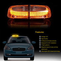 Precio de Emergency light-venta al por mayor 240 LED Luz de emergencia Advertencia Strobe Flashing magnética lámpara Top Techo del coche Blanco / RedBlue / WhiteAmber / Ámbar color 10pcs DHL libre