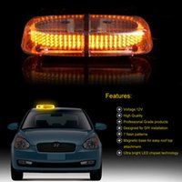 Wholesale LED Light Emergency Warning Strobe Flashing Magnetic Car Roof Top lamp White Red Blue White Amber Amber Color Free DHL