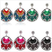 fashion beaded earrings - Earrings Earrings For Women Dangle Earrings Earrings Fashion Women Vintage Boho Style Drop Earring Resin Beaded Lady Heart Vintage Earrings