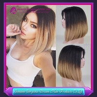 Cheap ombre bob wig Best human hair full lace wig