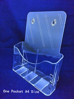 acrylic leaflet stand - Clear A4 One Tier Pamphlet Brochure Literature Plastic Acrylic Display Holder Stand To Insert Leaflet On Desktop By Express