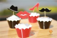 Wholesale Kids Party Decorations Events Fashion Wedding Cupcake Wrappers Cup Cake Toppers Picks Birthday Supplies Party Favors Cartoon Decoration