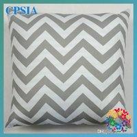 Wholesale Free Fedex Fashion Chevron Wave Print Cases Cushion Pillow Covers Striped PILLOW COVER Cushion Home Decoration Size CM