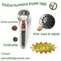 Wholesale Germanium F I R Tourmaline SPA Shower Head Filter Water Ionizer Removes Chlorine spa shower head