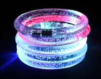 Wholesale 1000pcs LED Flash Blink Blinking Color Changing Light Lamp Party Fluorescence Club Stage Bracelet Bangle
