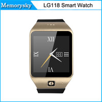 Cheap LG118 Bluetooth Waterproof Smart Watch with SIM Card Wearable Device Heart rate SmartWatch for Android smartphone in stock 010215