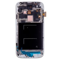 Wholesale Original Replacement Part For Samsung Galaxy S4 I9505 LCD Display Touch screen Digitizer With Frame Blue color