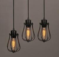 lamp shade - Vintage Light Bulb Retro Industrial Edison Light Metal Shade Ceiling Pendant Lamp Fixture With bulb