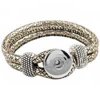 beads leather cord - F00252 newest Easy rivca Button noosa bracelet cord size mm for mm button