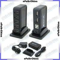 Wholesale High Speed Port Mini Real USB HUB AC Charger Power Charging Adapter With Retail Packing